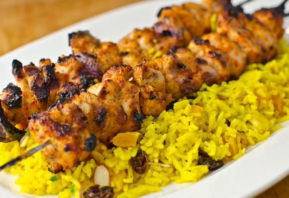 Ближневосточные куриные шашлычки
