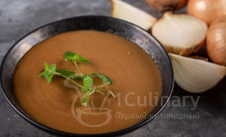 Бархатистый луковый соус